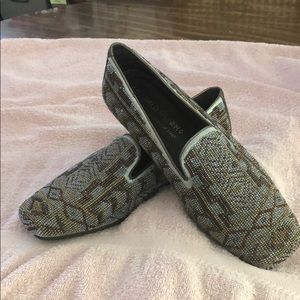 Donald J Pliner beaded slippers!